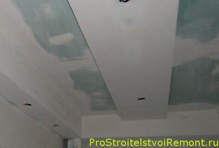 монтаж потолка из гипсокартона видео