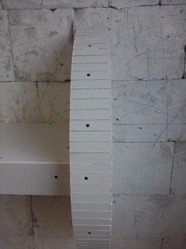 Облицовка полукруга кусками гипсокартона