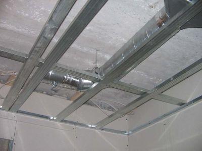 Обрешетка на потолочном перекрытии