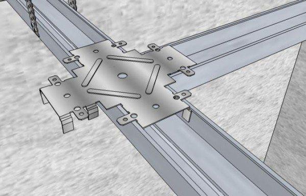 Обрешетка потолка – монтажный элемент краб.
