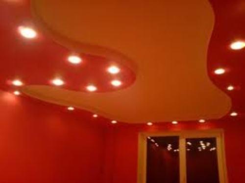 оформление потолка из гипсокартона