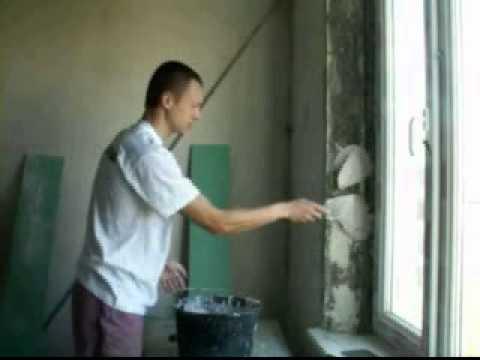 оконные откосы из гипсокартона своими руками