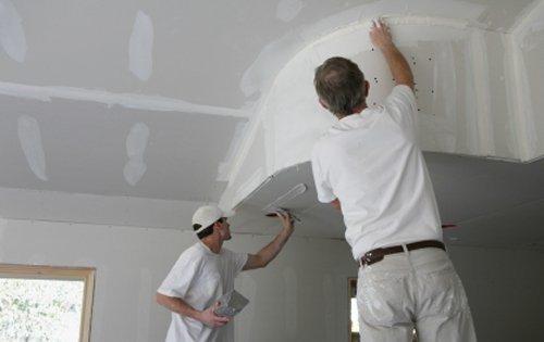 окраска стен из гипсокартона