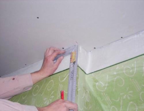 отделка гипсокартоном потолков и стен
