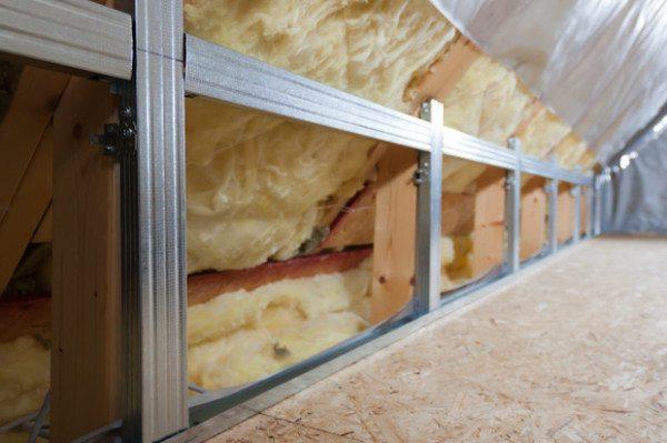 отделка мансардного этажа гипсокартоном