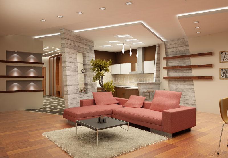 Отличный дизайн потолка из гипсокартона