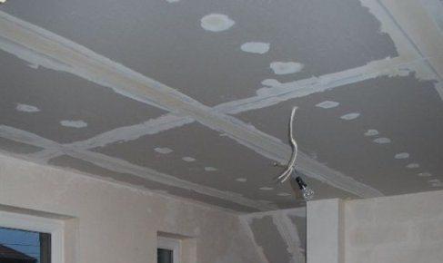подвесной потолок из гипсокартона своими руками видео