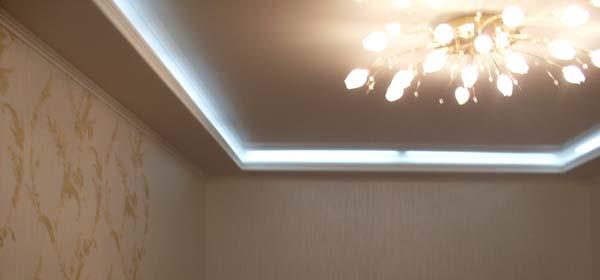 подвесные потолки из гипсокартона с подсветкой видео