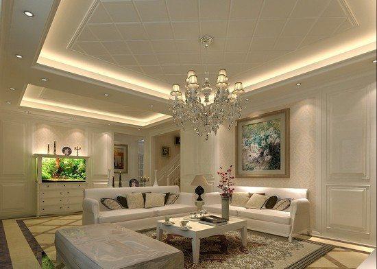 потолки из гипсокартона декоративные