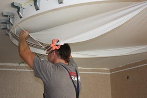 потолки натяжные с гипсокартоном
