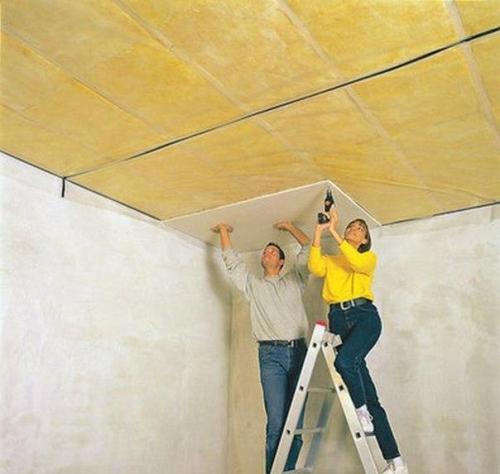 потолок ровный из гипсокартона