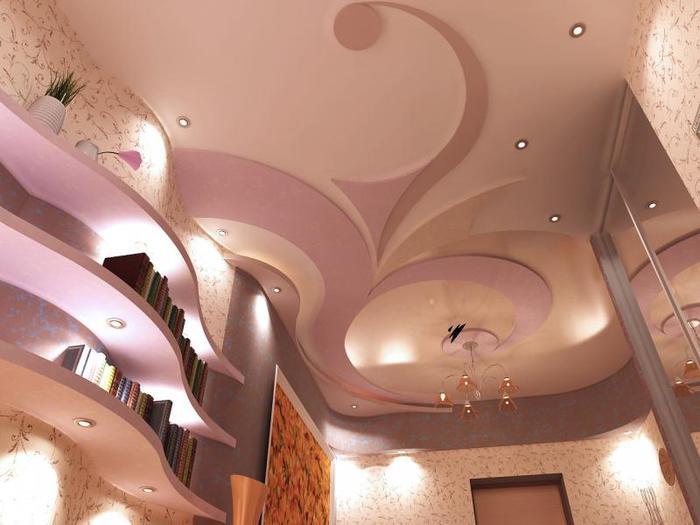 потолок ярусный из гипсокартона