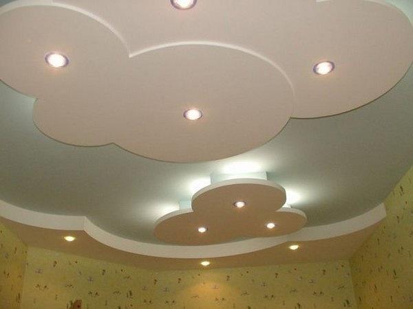Повторяющиеся элементы в потолочной конструкции.