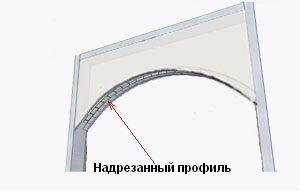 Процесс создания арки из гипсокартона