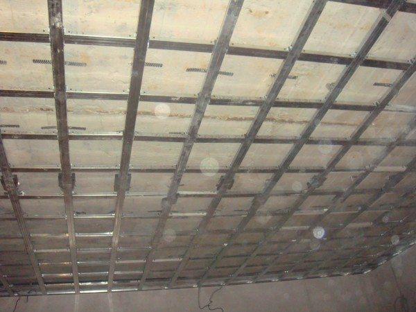 расчет подвесного потолка из гипсокартона
