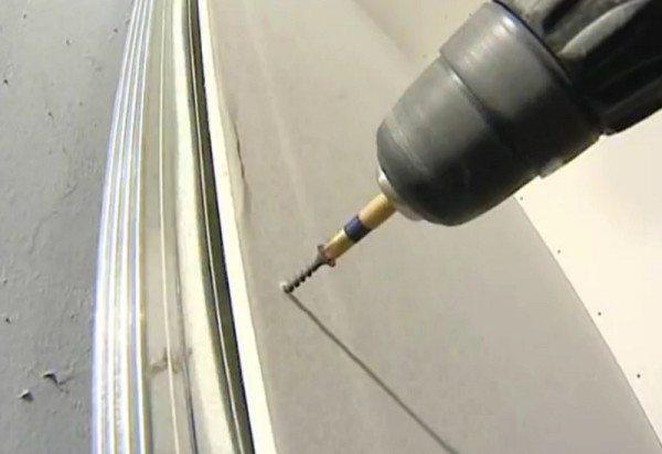 разрез ниши из гипсокартона для подсветки