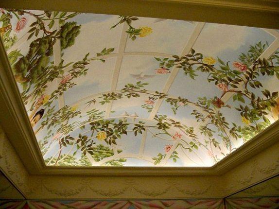 рисунки на потолке из гипсокартона
