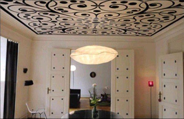 рисунок на потолке из гипсокартона