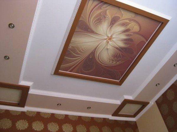 рисунок потолка из гипсокартона