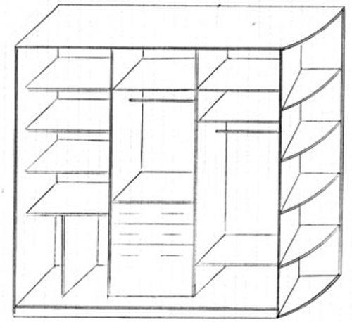 шкаф из гипсокартона в ванной