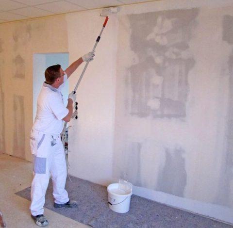 Стена из гипсокартонных систем под покраску