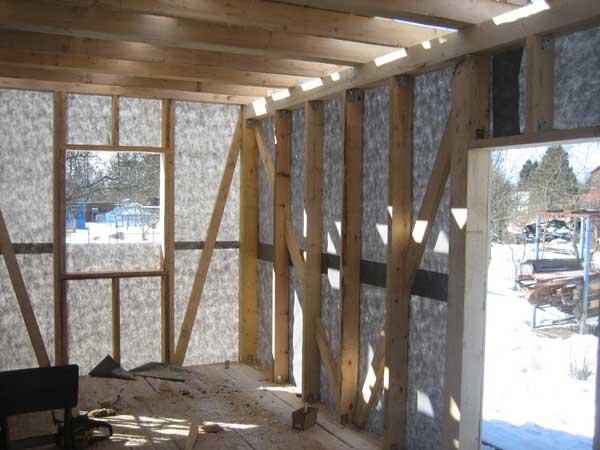стены из гипсокартона в деревянном доме