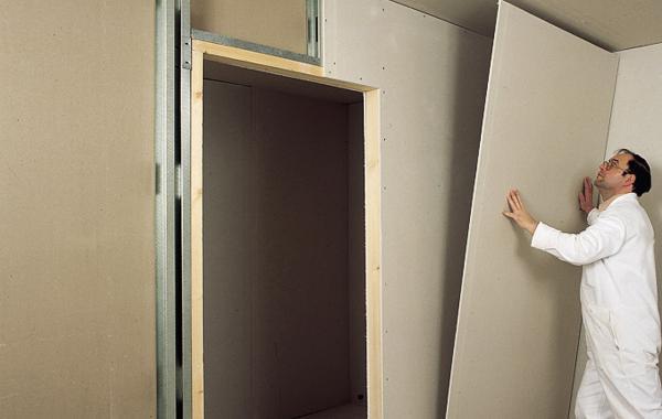 стены из гипсокартона в спальне