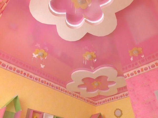цветы из гипсокартона на потолке
