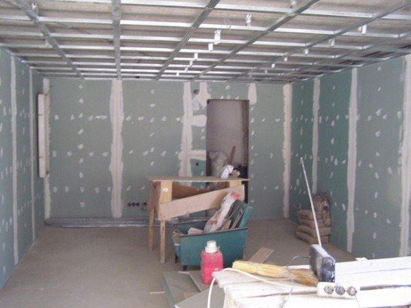 установка гипсокартонных потолков
