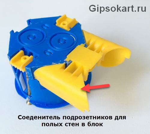 ustanovka podrozetnika v peregorodku gipsokartona foto3
