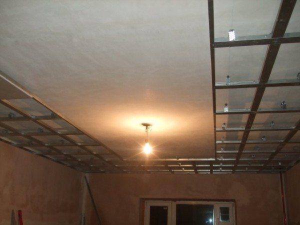 устройство гипсокартонных потолков