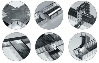 Варианты соединения каркаса из металлических профилей