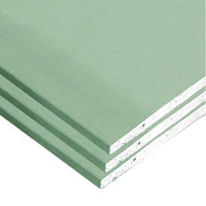 Влагостойкий ГКЛВ зеленого цвета